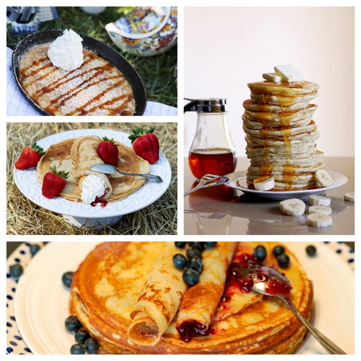 Your choice ofpancakes